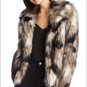 NWT 1. State faux fur coyote jacket